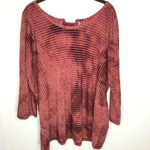Lane Bryant Striped Top Shirt Blouse Size 22/24